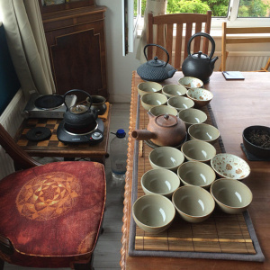 A tea ceremony in Kalyanaloka