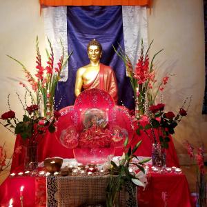 Padmasambhava Day shrine