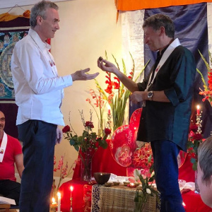 Ritual to mark Ratnaprabha as the new chair of the North London Buddhist Centre