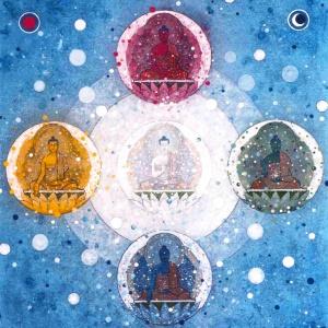 Five Buddha Mandala by Aloka