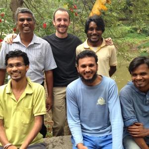 Bhaja Team with Dh. Akashmitra