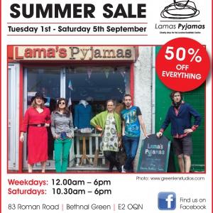 Lama's Summer Sale