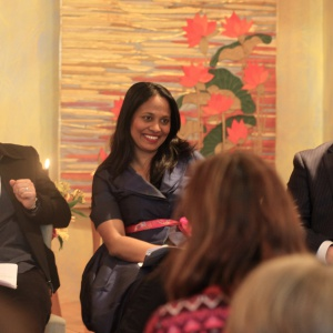 Shraddhasiddhi host the conversation, with Rushanara Ali (Labour MP) and Matt Smith (Conservative challenger)