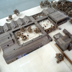 Architects model of the new complex