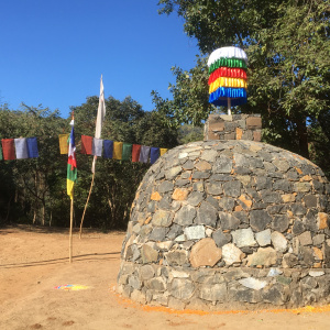 The new Guru stupa at Bhaja