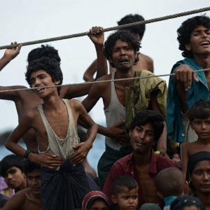 Rohingya refugees at sea