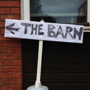 This way to the barn