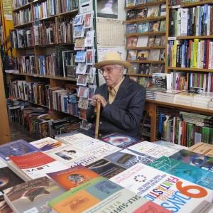 Bhante in a Glastonbury bookshop