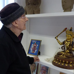 Bhante with some of the significant objects in his life