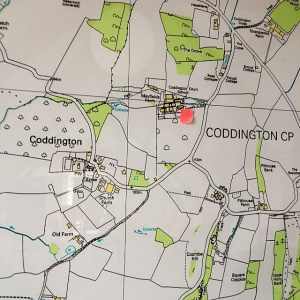 Map of Coddington village