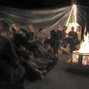 Folk music by the fire