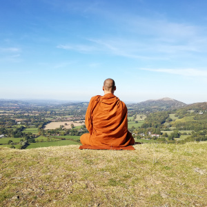 Thai monk from Norway in Herefordshire