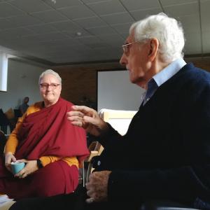 Dr Carola Roloff and Sangharakshita