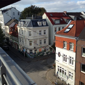 View from top of Hamburg Buddhist Centre