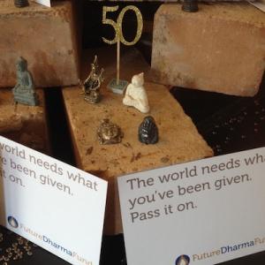 FutureDharma pledge card offerings