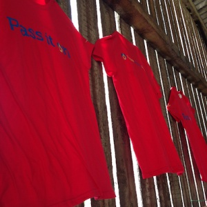 More red T shirts