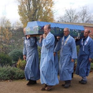 Bearing the coffin to the burial site