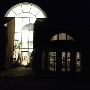 LIbrary at night