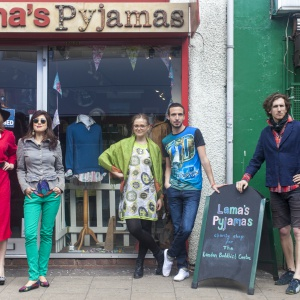 Model line-up at Lama's Pyjamas