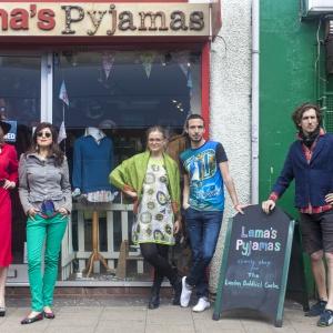 Model line-up at Lama's Pyjamas