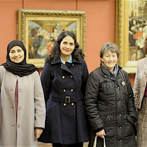 Women of faith including Samachitta, second from right