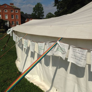 The Words tent