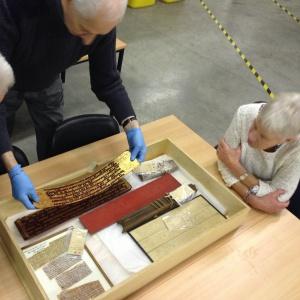 Examining the manuscripts