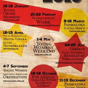 European Young Buddhists' retreat calendar