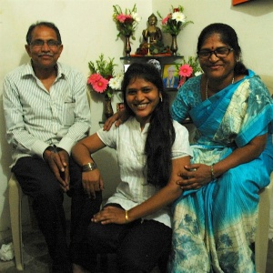 Neha and her parents