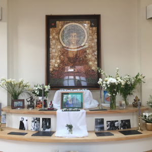 Shrewsbury Sangha shrine to Bhante