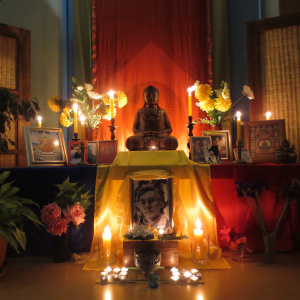 shrine for Bhante