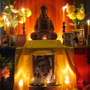 memorial shrine for Bhante