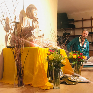 Akuppa for BAM at the Mid Essex Buddhist Centre in 2019