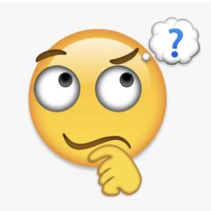 Question mark emoji