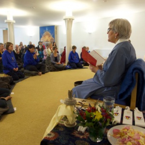 Paramachitta leading the Threefold Puja in English
