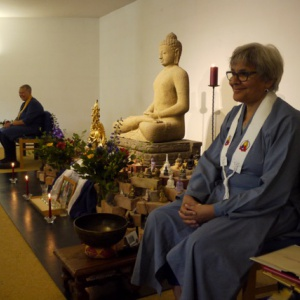 Parami and Paramachitta at the start of the ceremony