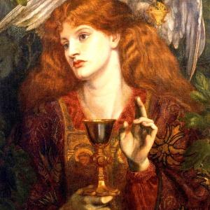 Grail Maiden by Dante Gabriel Rosetti