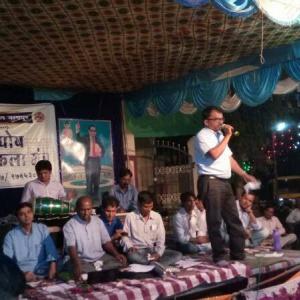 Dhammamitra Rajkumar presenting song