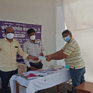 Medicine Help for poor - Cheque given for medicine
