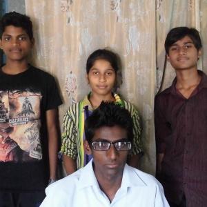 Rajat (Left to Right) , Prajakta and Naresh