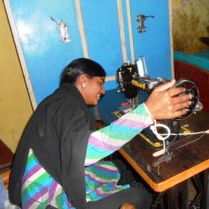 Hasina sewing