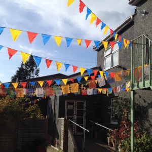 flags for Triratna day