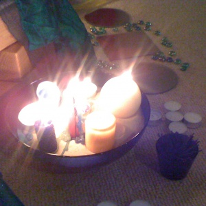aspiration candles offered to Akshobhya