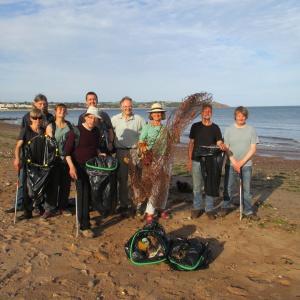 Beach cleaning in Devon