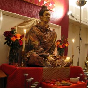new  buddha rupa at Liverpool centre