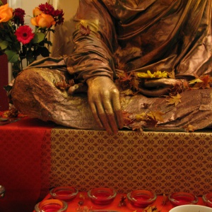 the earth touching mudra-the new rupa at the Liverpool centre