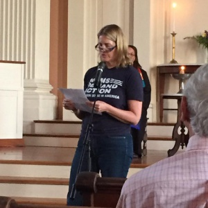 Deb H speaks at Portsmouth, NH vigil