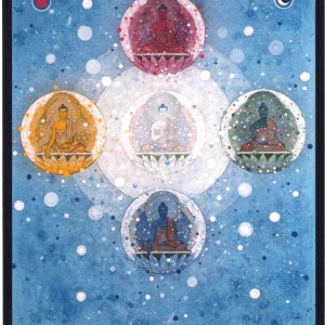 Five Buddha Mandala by Aloka