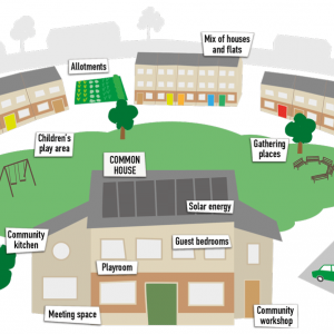 Cohousing infographic - from Suvana Cohousing blog: http://suvana.org