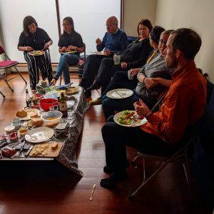The lunch 'feast' during Buddha day at the Dublin Buddhist Centre